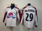 Colorado Avalanche #29 Nathan MacKinnon White Stitched NHL Jersey