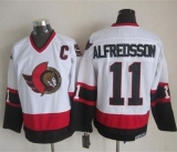 Ottawa Senators #11 Daniel Alfredsson White CCM Throwback Stitched NHL Jersey