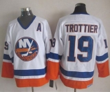 New York Islanders #19 Bryan Trottier White CCM Throwback Stitched NHL Jersey