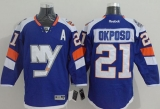 New York Islanders #21 Kyle Okposo Baby Blue 2014 Stadium Series Stitched NHL Jersey