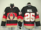 Ottawa Senators #25 Chris Neil Black Third Stitched NHL Jersey