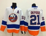 New York Islanders #21 Kyle Okposo White Stitched NHL Jersey