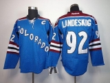 Colorado Avalanche #92 Gabriel Landeskog Blue Third Stitched NHL Jersey