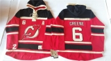 New Jersey Devils #6 Andy Greene Red Sawyer Hooded Sweatshirt Stitched NHL Jersey