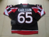 Ottawa Senators #65 Erik Karlsson Black New Third Stitched NHL Jersey