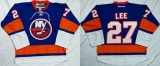 New York Islanders #27 Anders Lee Baby Blue Home Stitched NHL Jersey