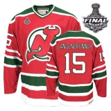 New Jersey Devils #15 Jamie Langenbrunner 2012 Stanley Cup Finals Red and Green CCM Throwback Stitched NHL Jersey