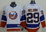 New York Islanders #29 Brock Nelson White Stitched NHL Jersey