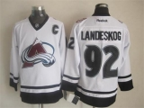 Colorado Avalanche #92 Gabriel Landeskog White Fashion Stitched NHL Jersey