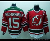 New Jersey Devils #15 Jamie Langenbrunner Stitched Red and Green CCM Throwback NHL Jersey