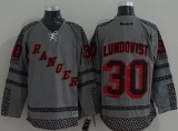 New York Islanders #30 Henrik Lundqvist Charcoal Cross Check Fashion Stitched NHL Jersey