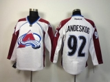 Colorado Avalanche #92 Gabriel Landeskog White Road Stitched NHL Jersey