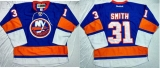 New York Islanders #31 Billy Smith Baby Blue Home Stitched NHL Jersey