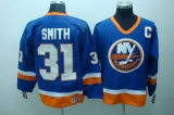 New York Islanders #31 Billy Smith Stitched Baby Blue CCM Throwback NHL Jersey