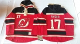 New Jersey Devils #17 Michael Ryder Red Sawyer Hooded Sweatshirt Stitched NHL Jersey