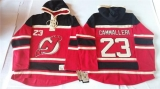 New Jersey Devils #23 Mike Cammalleri Red Sawyer Hooded Sweatshirt Stitched NHL Jersey