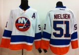 New York Islanders #51 Frans Nielsen White Stitched NHL Jersey