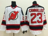 New Jersey Devils #23 Mike Cammalleri White Stitched NHL Jersey