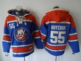 New York Islanders #55 Johnny Boychuk Baby Blue Sawyer Hooded Sweatshirt Stitched NHL Jersey