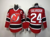 New Jersey Devils #24 Bryce Salvador Red Stitched NHL Jersey