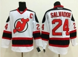 New Jersey Devils #24 Bryce Salvador White Stitched NHL Jersey