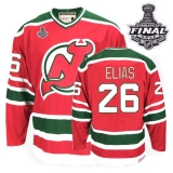 New Jersey Devils #26 Patrik Elias 2012 Stanley Cup Finals Red Green CCM Team Classic Stitched NHL Jersey