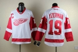 Detroit Red Wings #19 Steve Yzerman White Stitched NHL Jersey