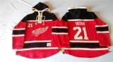 Detroit Red Wings #21 Tomas Tatar Red Sawyer Hooded Sweatshirt Stitched NHL Jersey