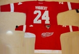 Detroit Red Wings #24 Bob Probert Red Stitched NHL Jersey