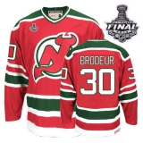 New Jersey Devils #30 Martin Brodeur 2012 Stanley Cup Finals Red and Green CCM Throwback Stitched NHL Jersey
