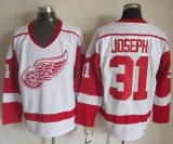 Detroit Red Wings #31 Curtis Joseph White CCM Throwback Stitched NHL Jersey