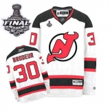 New Jersey Devils #30 Martin Brodeur 2012 Stanley Cup Finals White Stitched NHL Jersey