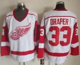 Detroit Red Wings #33 Kris Draper White CCM Throwback Stitched NHL Jersey