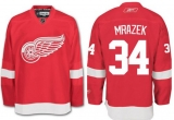 Detroit Red Wings #34 Petr Mrazek Red Stitched NHL Jersey