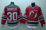 New Jersey Devils #30 Martin Brodeur Stitched Red and Green CCM Throwback NHL Jersey