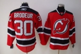 New Jersey Devils #30 Martin Brodeur Stitched Red NHL Jersey