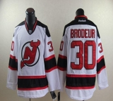 New Jersey Devils #30 Martin Brodeur Stitched White NHL Jersey