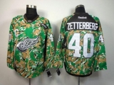 Detroit Red Wings #40 Henrik Zetterberg Camo Veterans Day Practice Stitched NHL Jersey