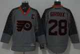 Philadelphia Flyers #28 Claude Giroux Charcoal Cross Check Fashion Stitched NHL Jersey
