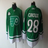 Philadelphia Flyers #28 Claude Giroux Green St Patty\'s Day Stitched NHL Jersey