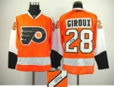 Philadelphia Flyers #28 Claude Giroux Orange Autographed Stitched NHL Jersey