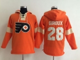 Philadelphia Flyers #28 Claude Giroux Orange Pullover NHL Hoodie