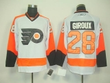 Philadelphia Flyers #28 Claude Giroux White Road Stitched NHL Jersey