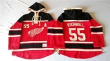 Detroit Red Wings #55 Niklas Kronwall Red Sawyer Hooded Sweatshirt Stitched NHL Jersey