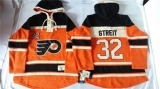 Philadelphia Flyers #32 Mark Streit Orange Sawyer Hooded Sweatshirt Stitched NHL Jersey