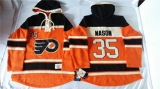 Philadelphia Flyers #35 Steve Mason Orange Sawyer Hooded Sweatshirt Stitched NHL Jersey