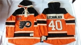 Philadelphia Flyers #40 Vincent Lecavalier Orange Sawyer Hooded Sweatshirt Stitched NHL Jersey