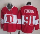 Detroit Red Wings #91 Sergei Fedorov Red Winter Classic CCM Throwback Stitched NHL Jersey