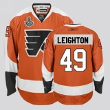 Philadelphia Flyers #49 Michael Leighton Stitched Orange NHL Jersey with Stanley Cup Finals