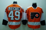 Philadelphia Flyers #49 Michael Leighton Stitched Orange NHL Jersey